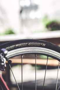close up photo of black bike wheel